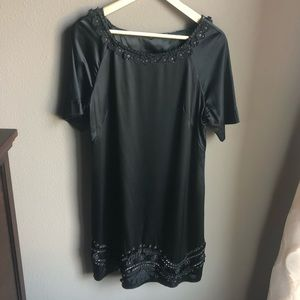Elie Tahari Silk Short Sleeve dress embellished